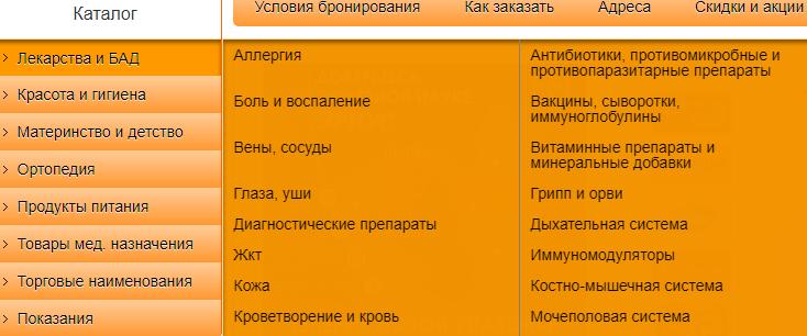 Каталог аптеки Живика в Челябинске